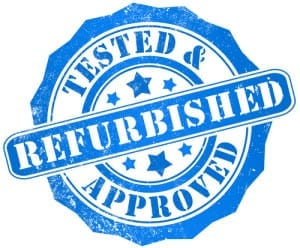 Stamp with Refurbished Tested & Approved